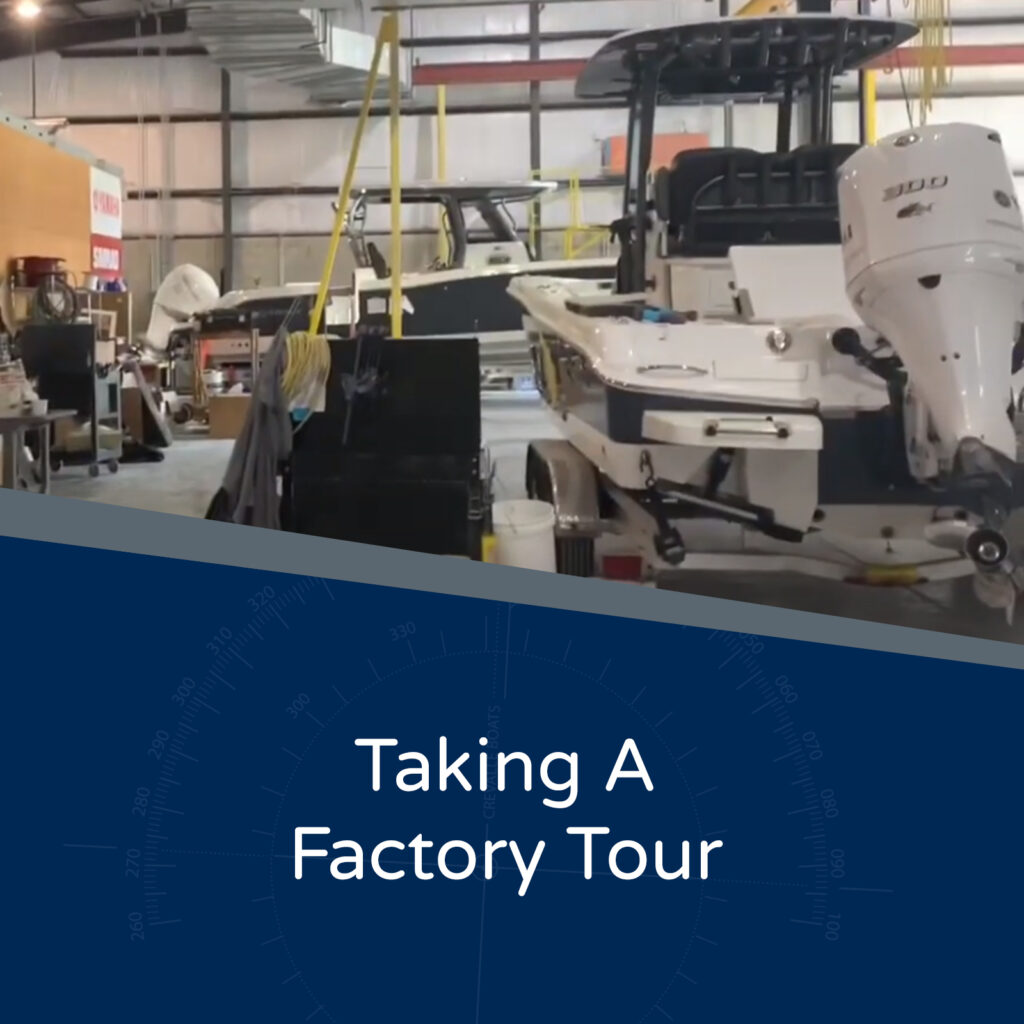 Taking A Factory Tour - Image of boats being made in Crevalle Boats Factory