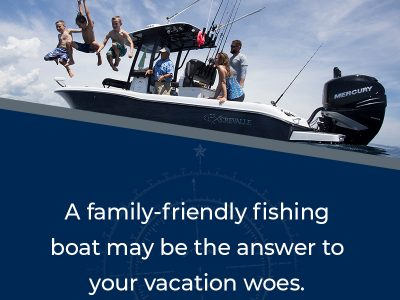 a family-friendly fishing boat may be hte answer to your vacation woes.